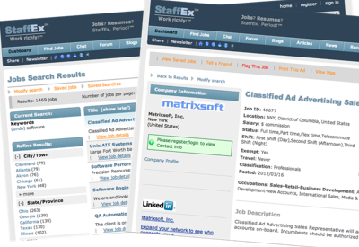 Job Search Results & Job View